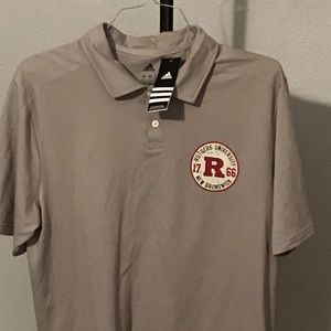 Adidas Rutgers University Polo Gray Large NWT
